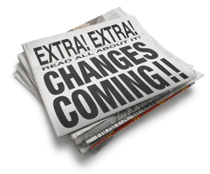 Newspaper of Changes Coming