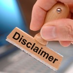 disclaimer marked on rubber stamp - istock